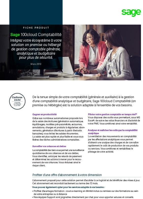 Sage 100cloud Comptabilité